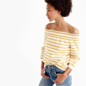 J. Crew Off the Shoulder Summer Top! Size M